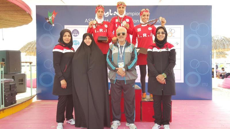 قهرماني دختران ايراني در مسابقات دوگانه غرب آسيا در اردن