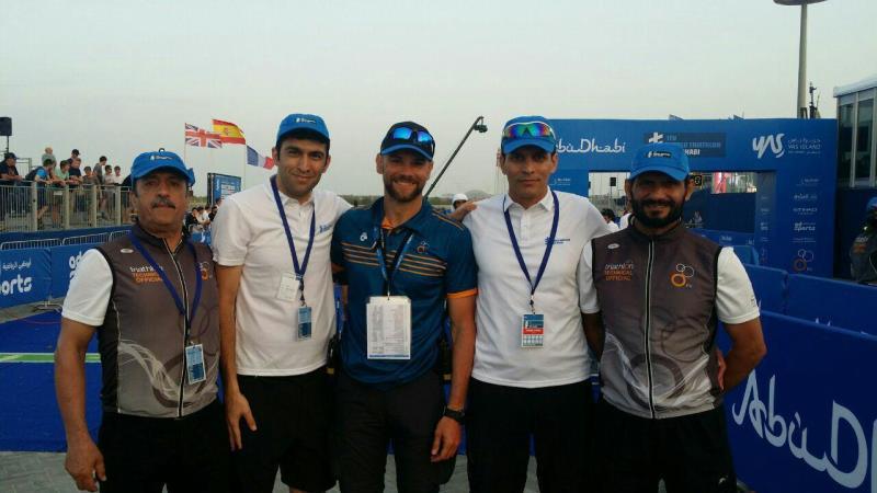 اولين دور از مسابقات سه گانه سري جهاني ITU در ابوظبي امارات برگزار شد.
