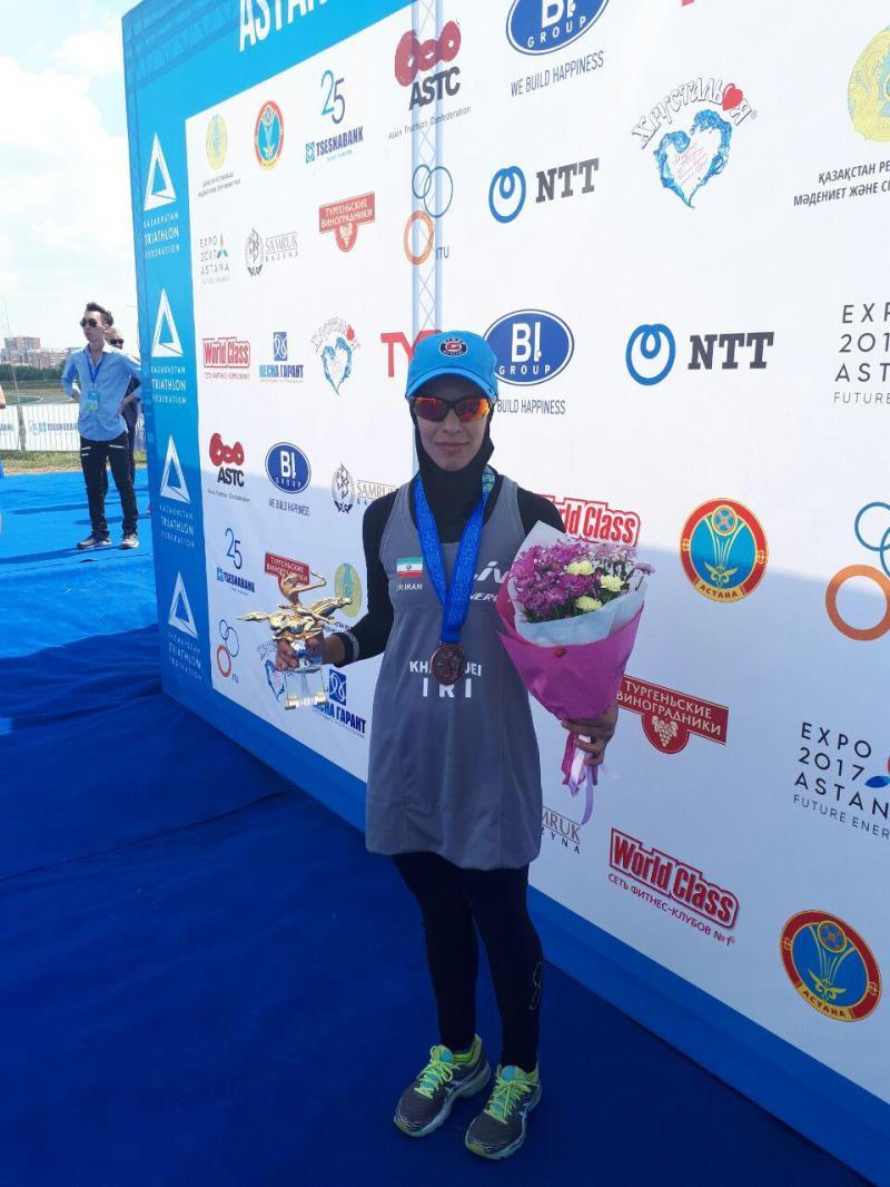 كسب مدال برنز توسط بانوي سه گانه كار كشورمان در مسابقات قهرماني آسياي ميانه قزاقستان