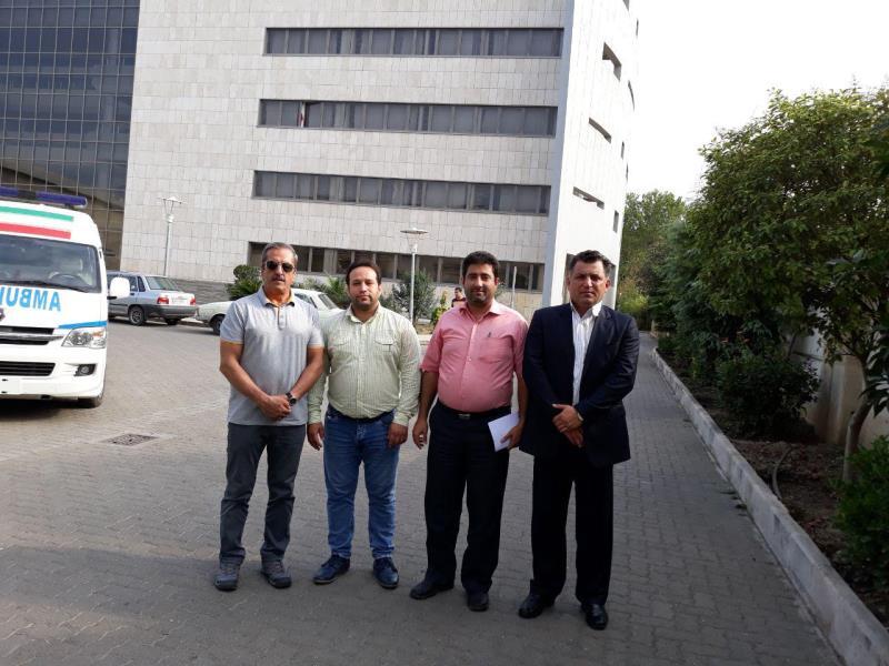 دبير سازمان ليگ و رئيس كميته مسابقات فدراسيون از امكانات شهر نور استان مازندران بازديد نمودند