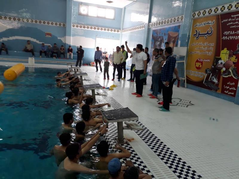 مسابقه سه گانه هيئت استان قم در دور رده سني برگزار شد