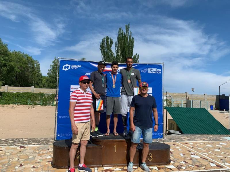كسب مدال در بخش مردان مسابقات قهرماني آسياي ميانه براي نخستين بار در تاريخ ورزش سه گانه كشور