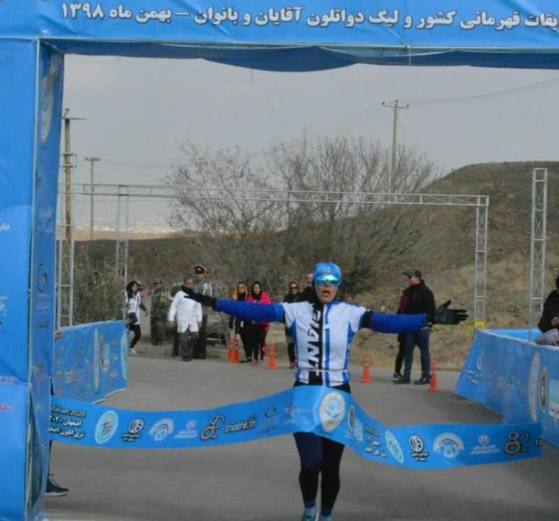 مسابقات دواتلون قهرماني كشور بانوان به ميزباني اصفهان برگزار شد