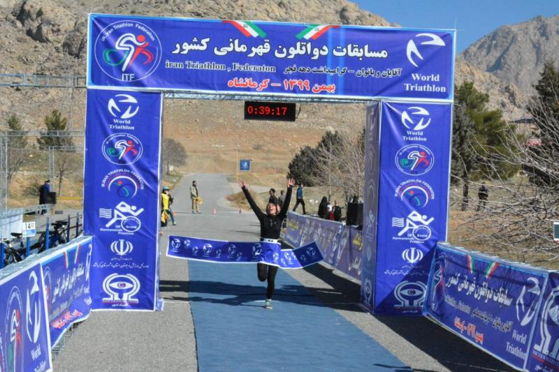 مسابقات دواتلون قهرماني كشور بانوان در رده نوجوانان