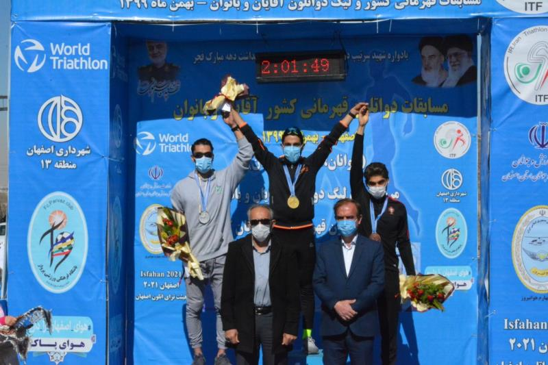 ملي پوشان صاحب هر سه سكوي رده اميد مسابقات دواتلون قهرماني كشور شدند