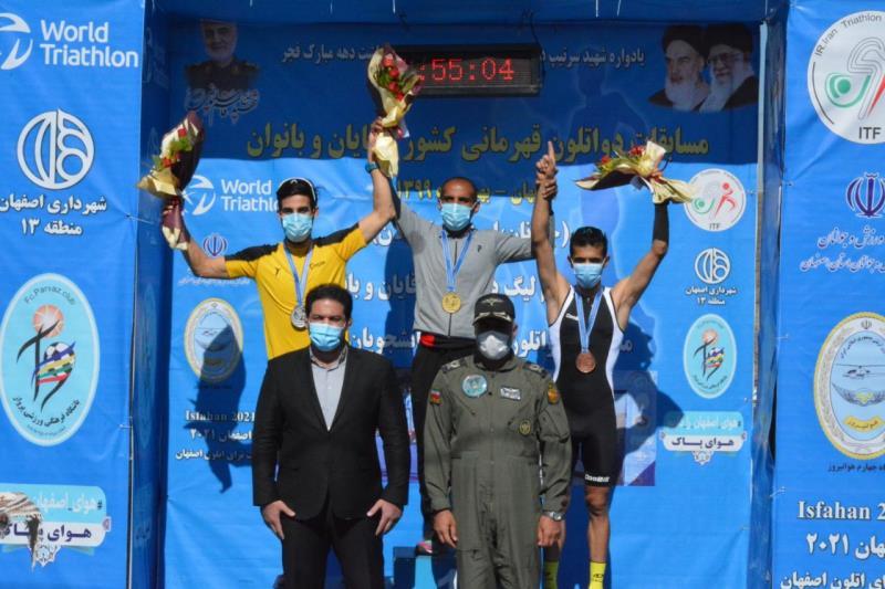قهرماني قاطع تيم اصفهان در مسابقات دواتلون قهرماني كشور ۱۳۹۹ 0