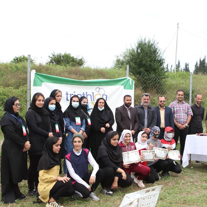 برگزاري مسابقه انتخابي دواتلون بانوان شهرستان ساري