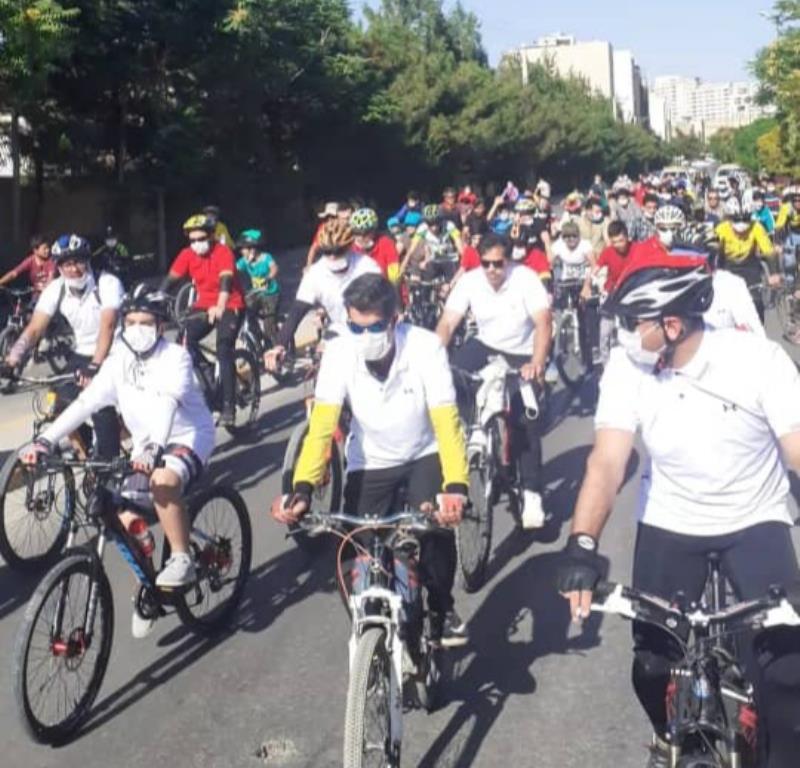 همايش دوچرخه سواري همگاني آقايان برگزار شد