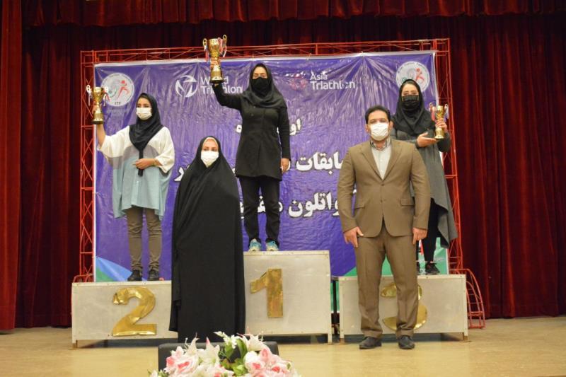 اولين دوره مسابقات آكواتلون منقطع قهرماني كشور بانوان برگزار شد