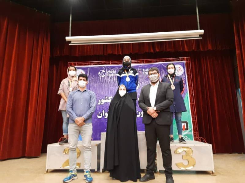 مسابقات آكواتلون منقطع بانوان، كاپ آزاد تهران برگزار شد