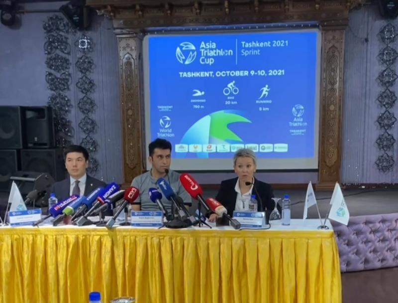 كنفرانس خبري پيش از آغاز كاپ آسيايي تراياتلون تاشكند ۲۰۲۱ برگزار شد