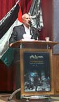 حضور سردار صبور ، رئيس فدراسيون ورزش سه گانه در همايش حمايت از مردم بي دفاع غزه