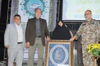مراسم پاياني هشتمين دوره مسابقات قهرماني دوگانه بانوان كشور در اصفهان